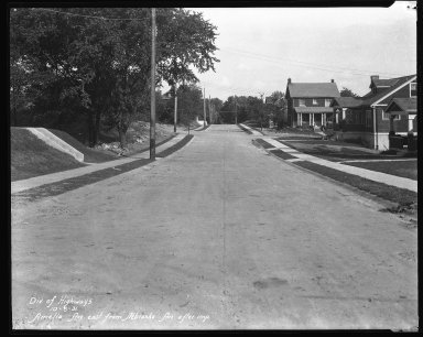 Street Improvement Photographs -- Box 31, Folder 03 (Amelia Avenue) -- negative, 1931-10-06