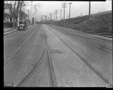 Street Improvement Photographs -- Box 31, Folder 04 (Anthony Wayne Avenue) -- negative, 1927
