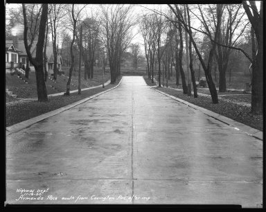Street Improvement Photographs -- Box 31, Folder 05 (Amanda Place) -- negative, 1930-11-14