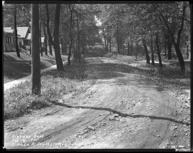 Street Improvement Photographs -- Box 31, Folder 05 (Amanda Place) -- negative, 1930-08-16