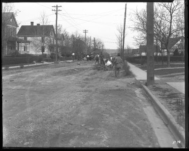 Street Improvement Photographs -- Box 31, Folder 07 (Arnsby Avenue) -- negative, 1924