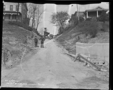 Street Improvement Photographs -- Box 31, Folder 09 (Aspasia Street) -- negative, 1938-04-06