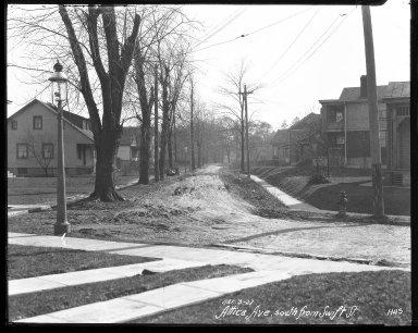 Street Improvement Photographs -- Box 31, Folder 11 (Attica Avenue) -- negative, 1927-03-03