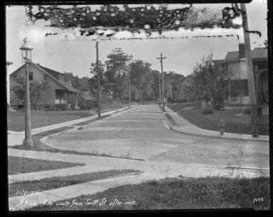 Street Improvement Photographs -- Box 31, Folder 11 (Attica Avenue) -- negative, 1927-07-07