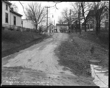 Street Improvement Photographs -- Box 31, Folder 13 (Badgeley Street) -- negative, 1932-02-04
