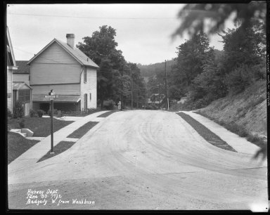 Street Improvement Photographs -- Box 31, Folder 13 (Badgeley Street) -- negative, 1932-06-30