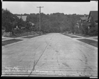 Street Improvement Photographs -- Box 31, Folder 14 (Baker Avenue) -- negative, 1930-08-19