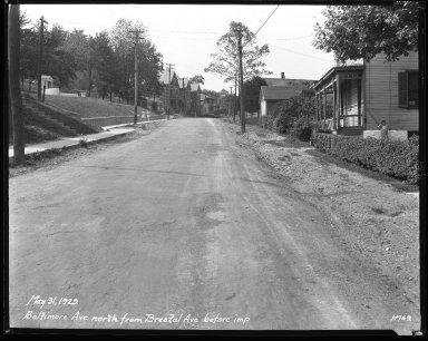 Street Improvement Photographs -- Box 31, Folder 16 (Baltimore Avenue) -- negative, 1929-05-31