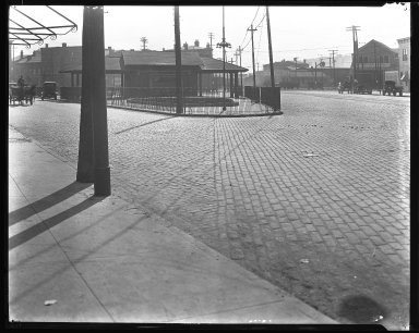 Street Improvement Photographs -- Box 31, Folder 18 (Bank Street) -- negative, 1928
