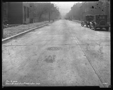 Street Improvement Photographs -- Box 31, Folder 20 (Barr Street) -- negative, 1929-03-09