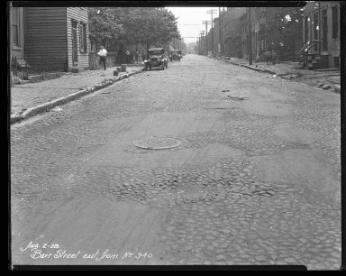 Street Improvement Photographs -- Box 31, Folder 20 (Barr Street) -- negative, 1928-08-02
