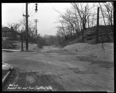 Street Improvement Photographs -- Box 32, Folder 03 (Bassett Road) -- negative, 1927-03-09