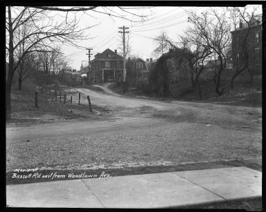 Street Improvement Photographs -- Box 32, Folder 03 (Bassett Road) -- negative, 1927-03-09