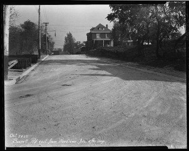 Street Improvement Photographs -- Box 32, Folder 03 (Bassett Road) -- negative, 1927-10-28
