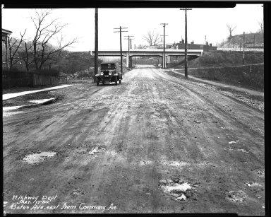 Street Improvement Photographs -- Box 32, Folder 04 (Bates Avenue) -- negative, 1930-03-17