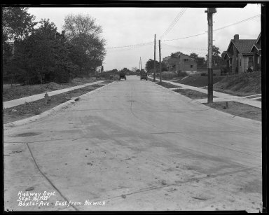 Street Improvement Photographs -- Box 32, Folder 05 (Baxter Avenue) -- negative, 1929-09-18