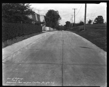 Street Improvement Photographs -- Box 32, Folder 06 (Beaumont Place) -- negative, 1931-10-06