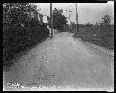 Street Improvement Photographs -- Box 32, Folder 06 (Beaumont Place) -- negative, 1931-04-30