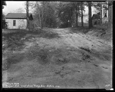 Street Improvement Photographs -- Box 32, Folder 07 (Beaver Avenue) -- negative, 1929-05-09