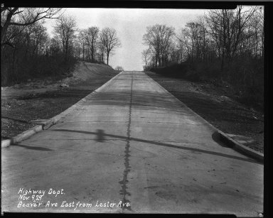 Street Improvement Photographs -- Box 32, Folder 07 (Beaver Avenue) -- negative, 1929-11-09