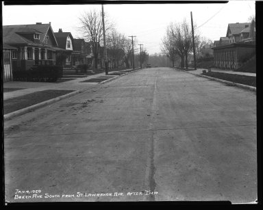 Street Improvement Photographs -- Box 32, Folder 08 (Beech Avenue) -- negative, 1929-01-04