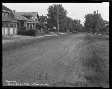 Street Improvement Photographs -- Box 32, Folder 08 (Beech Avenue) -- negative, 1928-06-27