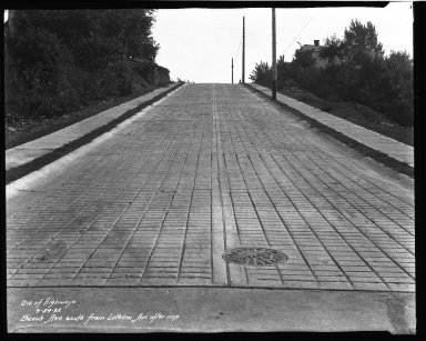 Street Improvement Photographs -- Box 32, Folder 08 (Beech Avenue) -- negative, 1932-09-24