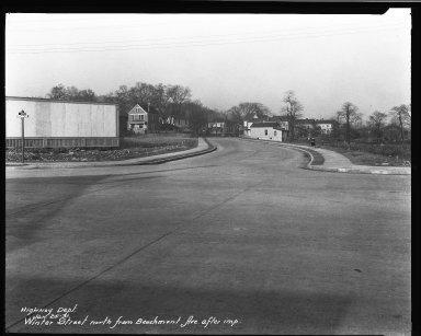 Street Improvement Photographs -- Box 32, Folder 10 (Beechmont Avenue) -- negative, 1931-01-25
