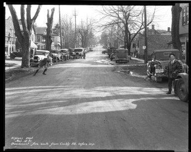 Street Improvement Photographs -- Box 32, Folder 11 (Beechmont Avenue) -- negative, 1931-03-12