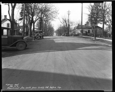 Street Improvement Photographs -- Box 32, Folder 12 (Beechmont Avenue) -- negative, 1931-03-12