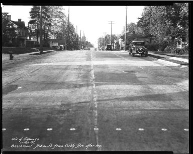 Street Improvement Photographs -- Box 32, Folder 14 (Beechmont Avenue) -- negative, 1931-10-20
