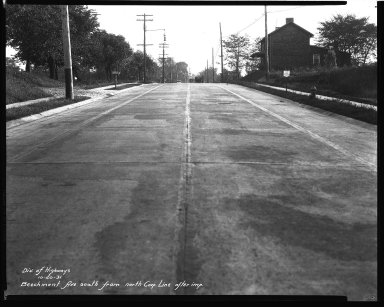 Street Improvement Photographs -- Box 32, Folder 16 (Beechmont Avenue) -- negative, 1931-10-20