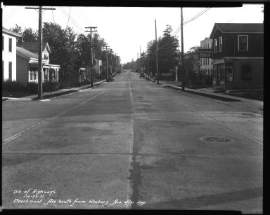 Street Improvement Photographs -- Box 32, Folder 12 (Beechmont Avenue) -- negative, 1931-10-20