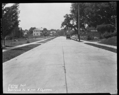 Street Improvement Photographs -- Box 32, Folder 14 (Beechwood Avenue) -- negative, 1932-06-29