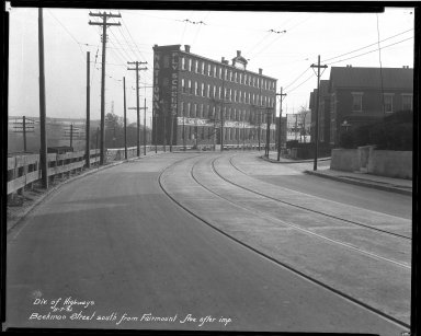 Street Improvement Photographs -- Box 32, Folder 15 (Beekman Street) -- negative, 1931-11-07