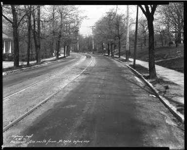 Street Improvement Photographs -- Box 32, Folder 17 (Belmont Avenue) -- negative, 1931-04-16
