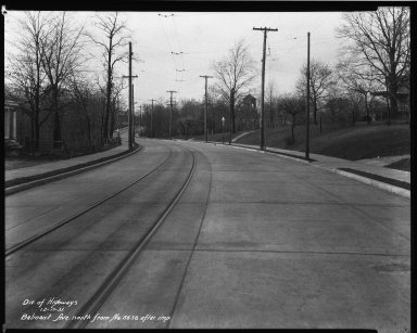 Street Improvement Photographs -- Box 32, Folder 17 (Belmont Avenue) -- negative, 1931-12-13