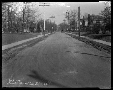 Street Improvement Photographs -- Box 32, Folder 18 (Beredith Place) -- negative, 1928-03-07