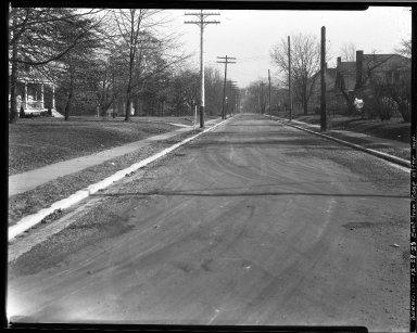 Street Improvement Photographs -- Box 32, Folder 18 (Beredith Place) -- negative, 1928-12-28