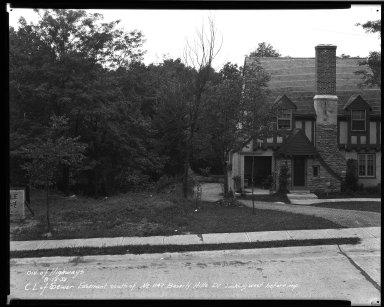 Street Improvement Photographs -- Box 32, Folder 19 (Beverly Hills Drive) -- negative, 1932-08-25