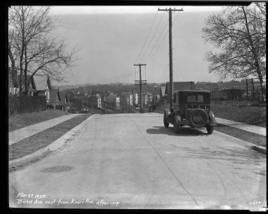 Street Improvement Photographs -- Box 32, Folder 20 (Bickel Avenue) -- negative, 1929-03-27