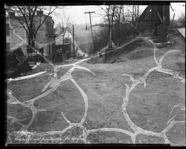 Street Improvement Photographs -- Box 32, Folder 21 (Biegler Street) -- negative, 1932-03-18