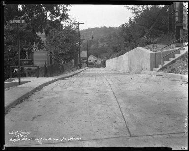 Street Improvement Photographs -- Box 32, Folder 21 (Biegler Street) -- negative, 1932-10-19