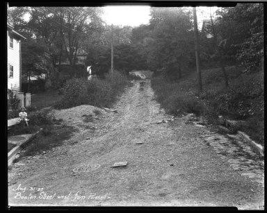 Street Improvement Photographs -- Box 32, Folder 24 (Bouton Street) -- negative, 1927-08-31