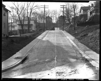 Street Improvement Photographs -- Box 32, Folder 24 (Bouton Street) -- negative, 1928-12-28