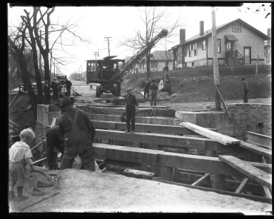 Street Improvement Photographs -- Box 32, Folder 26 (Bramble Avenue) -- negative, 1928