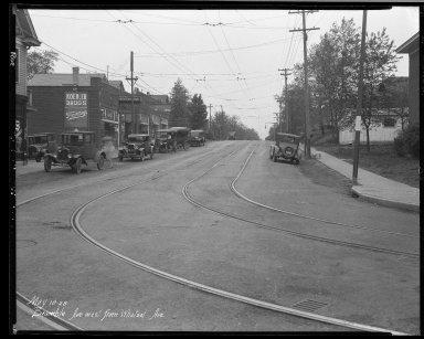 Street Improvement Photographs -- Box 32, Folder 26 (Bramble Avenue) -- negative, 1928-05-18