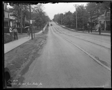 Street Improvement Photographs -- Box 32, Folder 26 (Bramble Avenue) -- negative, 1928-05-18