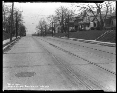 Street Improvement Photographs -- Box 32, Folder 26 (Bramble Avenue) -- negative, 1929-01-10