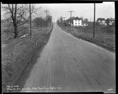 Street Improvement Photographs -- Box 32, Folder 26 (Bramble Avenue) -- negative, 1929-03-02